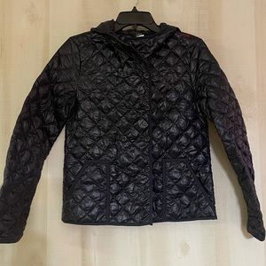 J. Crew navy quilted puffer jacket coat, size XS